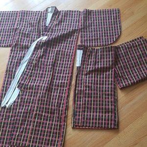 Kimono & Jacket set casual / plaid / teens / kids